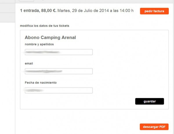 entrada ticketea arenal sound